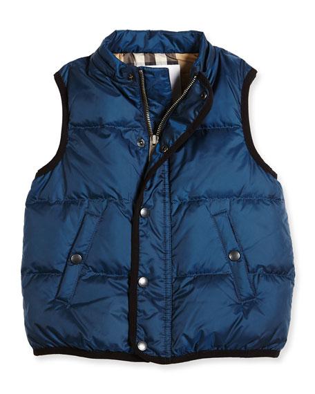 Carlton Puffer Vest, Ink Blue, Size 4-14