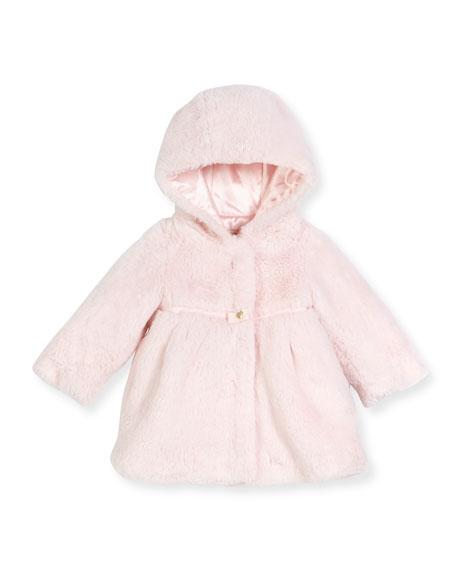 b95349e7de89 Armani Junior Hooded Faux-Fur Coat