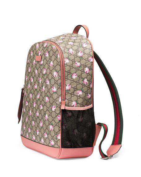 0a3062a3698b00 Gucci Classic GG Supreme Rose Backpack Diaper Bag, Beige