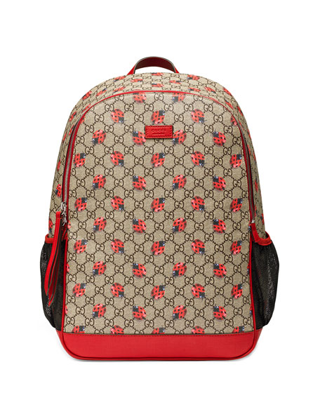 Gucci Classic GG Supreme Ladybug Backpack Diaper Bag cf3eba3b33180
