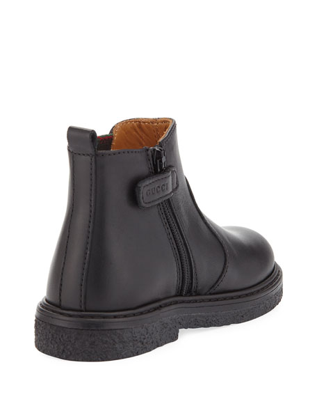 Joshua Leather Chelsea Boot, Black, Toddler