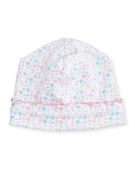 Kissy Kissy Elegant Ellie's Printed Pima Hat, Pink