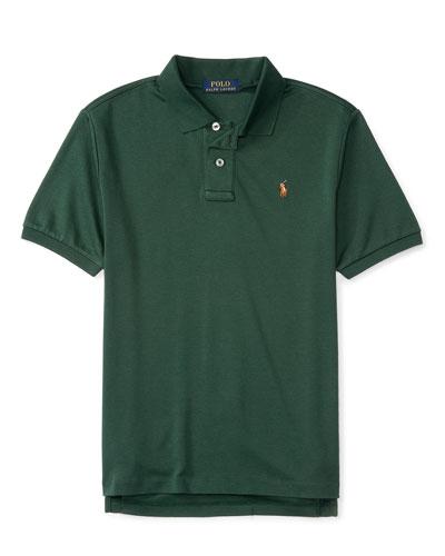 Cotton Jersey Polo Shirt, Size 2-4