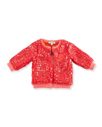 Coated Plush Zip Jacket