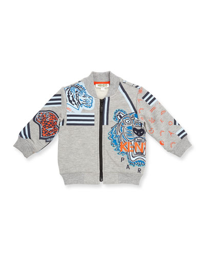 Fleece Logo Jacket, Gray, Size 12M-3