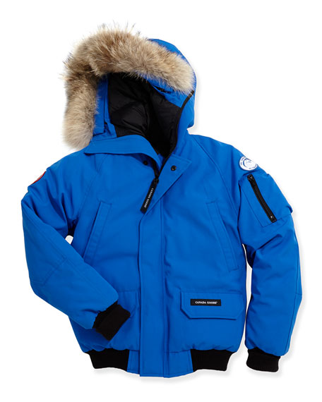 Canada Goose Kids' PBI Chilliwack Hooded Fur-Trim Parka,