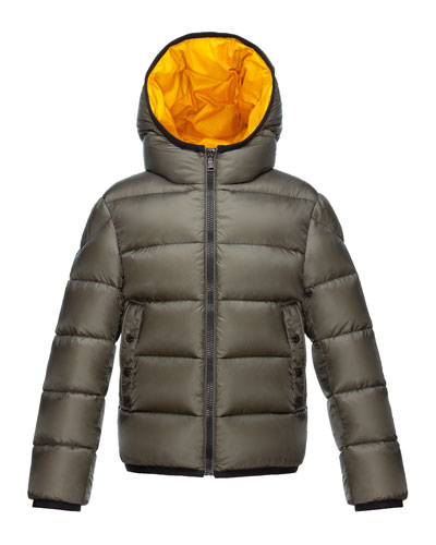 Serge Hooded Puffer Coat  Olive  Size 8-14
