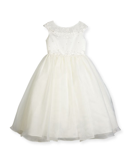 Joan Calabrese Beaded Satin & Organza Special Occasion