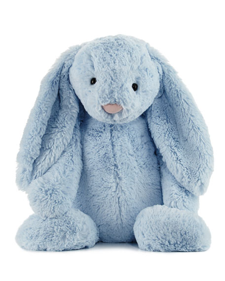 Huge Bashful Bunny Stuffed Animal, Blue