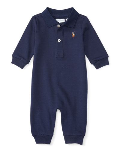 Pima Polo Coverall, Size 3-12 Months