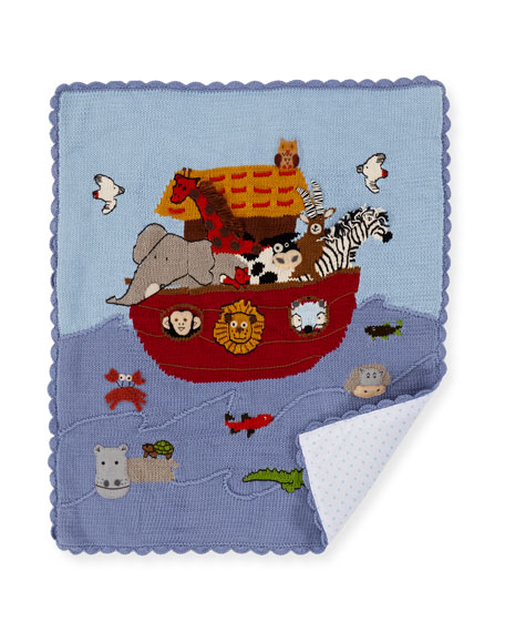Kids' Noah's Ark Scalloped Blanket