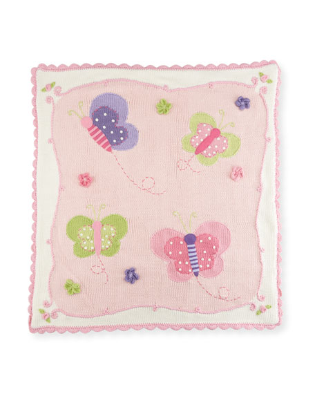 Art Walk Kids' Butterfly Scalloped Blanket
