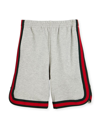 Felted Jersey Shorts, Multicolor, Size 4-12