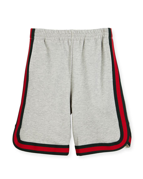 Gucci Felted Jersey Shorts, Multicolor, Size 4-12