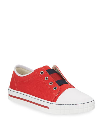 burberry outlet for kids 3eon  Canvas Slip-On Sneaker, Toddler