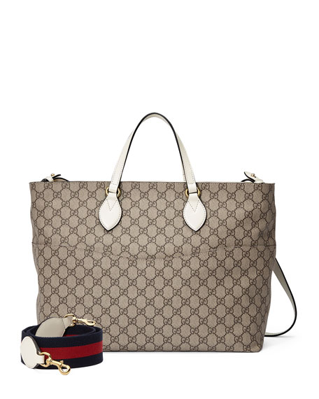 GG Supreme Canvas Top-Handle Diaper Bag
