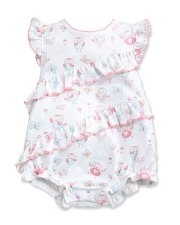Owfully Cute Ruffle Bubble Playsuit, Pink, Size 3-18 Months