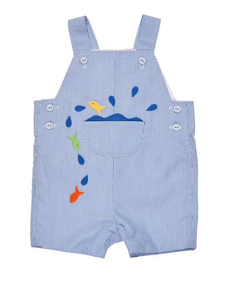 Corduroy Fish Overalls, Blue, Size 3-24 Months