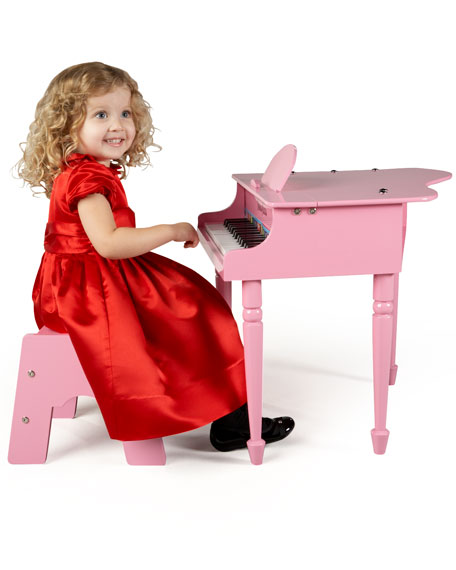 30-Key Mini Grand Piano, Pink