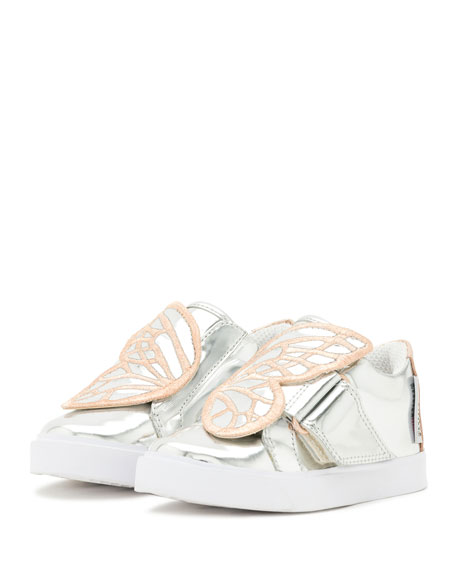 Bibi Butterfly Low-Top Sneaker, Silver/Multi, Toddler/Youth