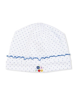 Strawberry Delight Baby Hat, Blue/White
