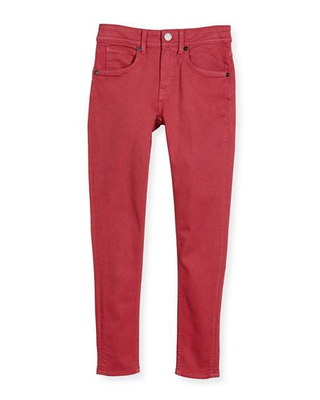 Burberry Skinny Stretch Denim Jeans, Pink, Size 4-14