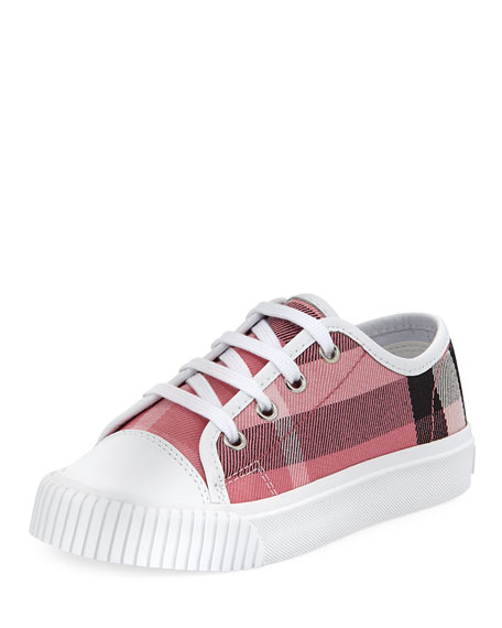 Burberry Check Low-Top Sneaker, Youth