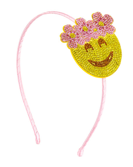 Bari Lynn Girls Jeweled Headband, Pink