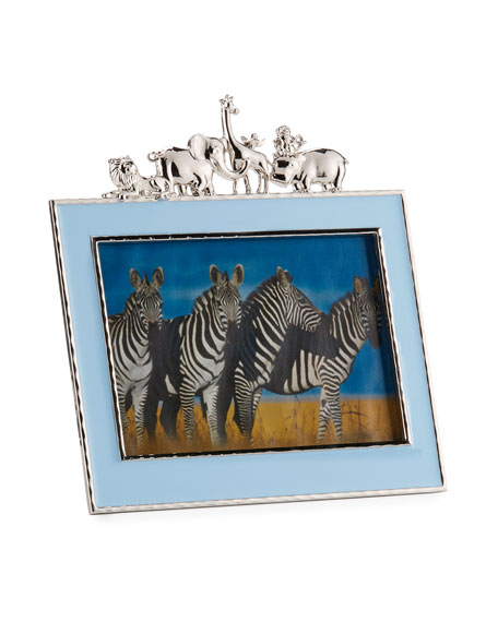 """Boys' Animals 5"""" x 7"""" Picture Frame, Blue"""