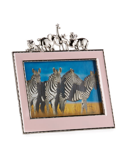 "Girls' Animals 5"" x 7"" Frame, Pink"