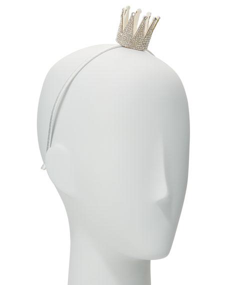 Girls' Rhinestone Crown Headband
