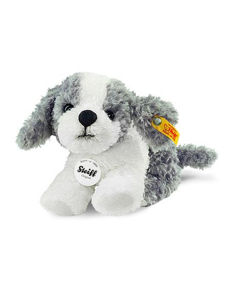 Little Tommy Stuffed Plush Puppy, Gray/White