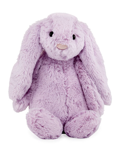Medium Bashful Bunny Plush Animal, Lilac