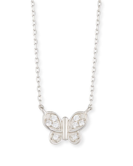 Girls' Sterling Silver Butterfly Necklace