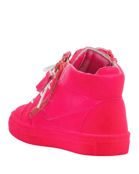 Kids' Smuggy Velvet Sneaker, Youth