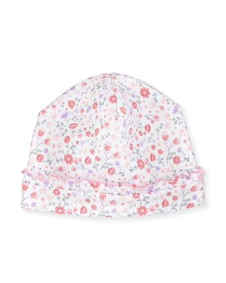 Kissy Kissy Fall Blossoms Pima Baby Hat, Pink