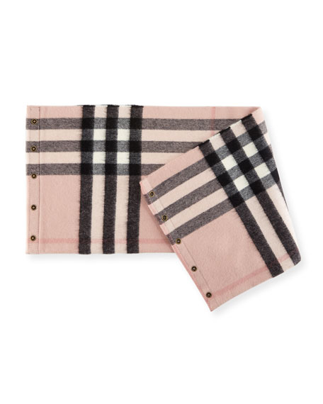 Kids' Cashmere Check Snood