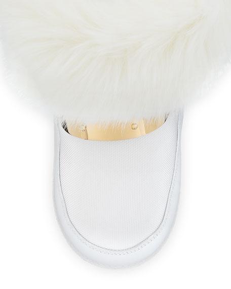 Kids' Snow Laceless Fur Boot, Infant/Toddler