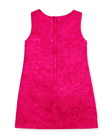 Flower Cat Dress, Pink, Size 8-12
