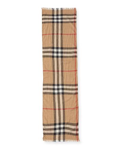 Kids' Check Gauze Scarf
