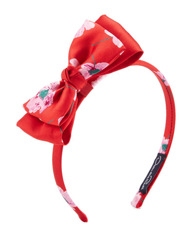 Girls' Degrade Poppies Bow Headband