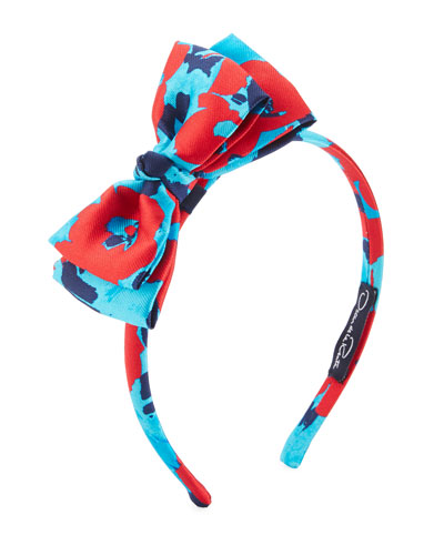 Girls' Peacock Wild Roses Bow Headband