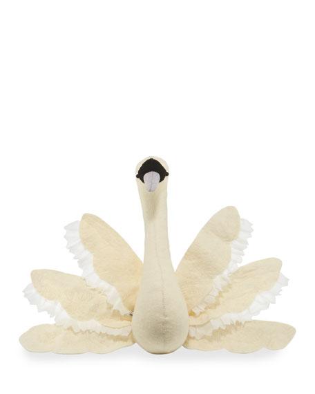 Swan Wool Felt Wall Mount