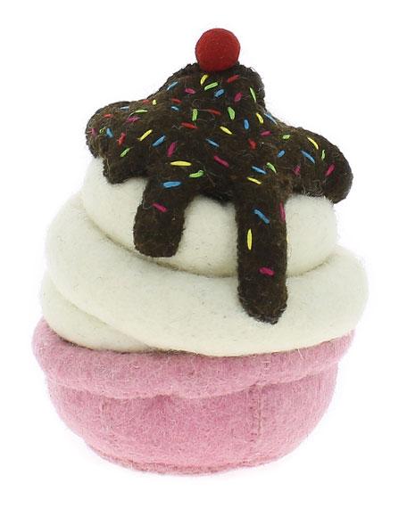 Ice Cream Sundae Wool Felt Bookend, Multi