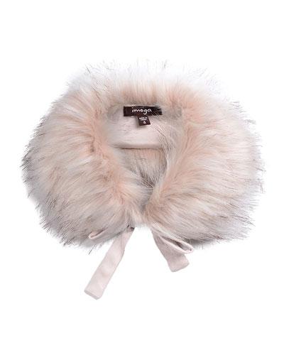 Hope Girls' Faux-Fur Collar, Pink