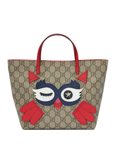 Girls' GG Supreme Owl Tote Bag