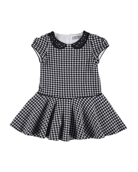 Embellished Houndstooth Dress, Size 3-7