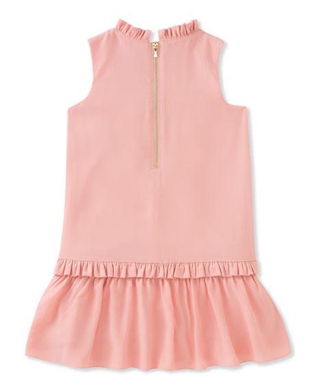 infant girls' ruffle collar dress, size 12-24 months