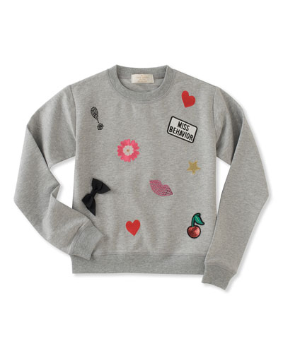 Infant girls' patched sweatshirt w/ leggings, size 12-24 months
