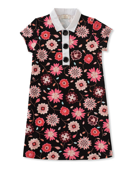 floral-print collared shift dress, size 2-6
